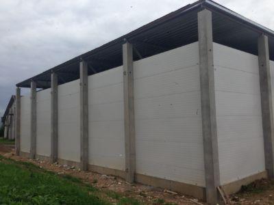 Vireen AS, Ebavare külmhoone metallkonstruktsioonide tarne ja paigaldus, katuse tööd, Ruukki paneelide paigaldus (2016)